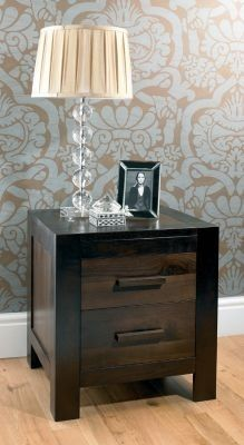 d0fbd059db Bentley Designs Lyon Walnut Bedside Cabinet - 2 Drawer | Dark Wood ...