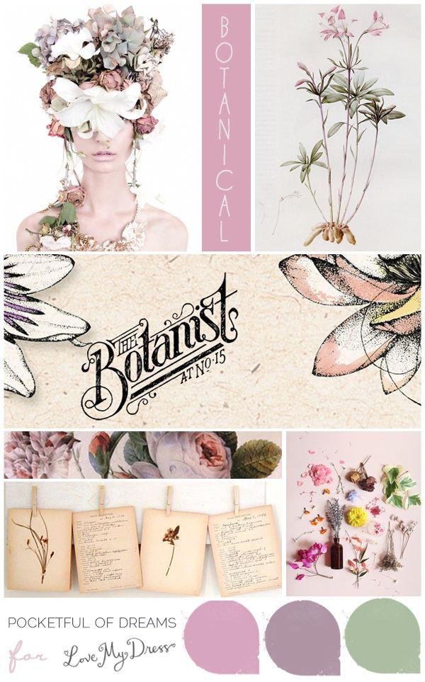Bridal Inspiration Board #59 ~ Botanicals | Paletas de colores ...