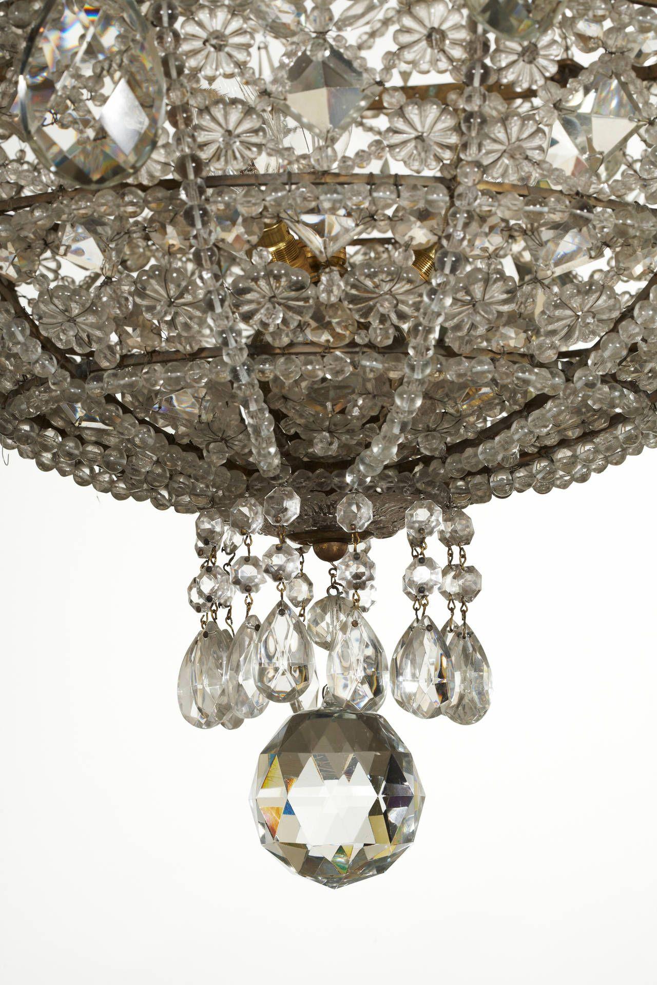 French midth century half basket chandelier chandeliers