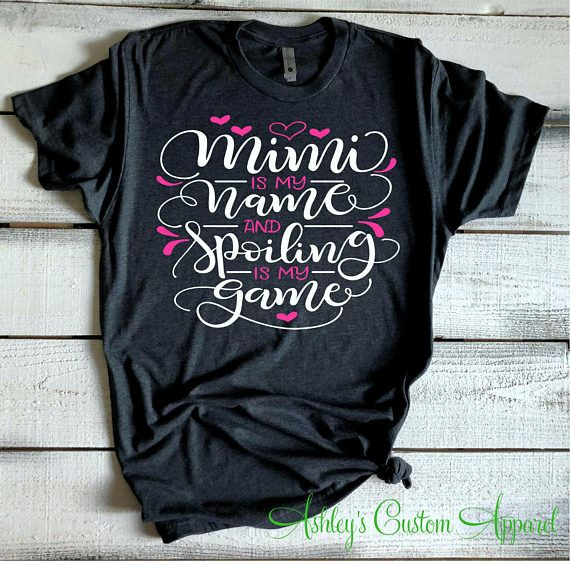 7f655e97 Mimi Shirts Funny Grandma Shirts Mimi Life Tshirt Gifts for Mimi  Grandparents Tee Mimi Is My Name And Spoiling Is My Game Custom Mimi Tee