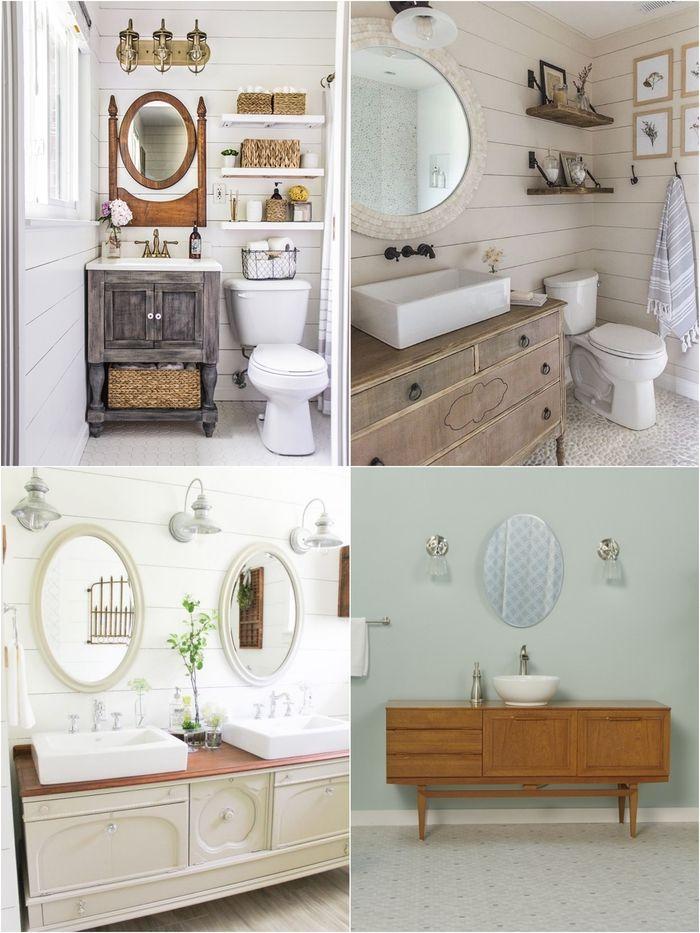 ▷ 1001+ idées originales pour un meuble salle de bain récup - Comment Decaper Un Meuble