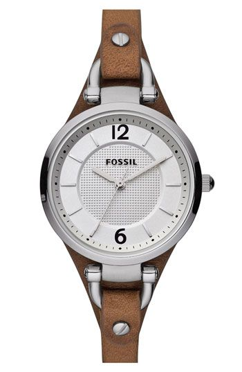 Fossil Leather Watch.. want this!