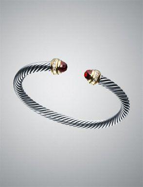 David Yurman Cable Clics Collection Bracelet In Garnet 1 650