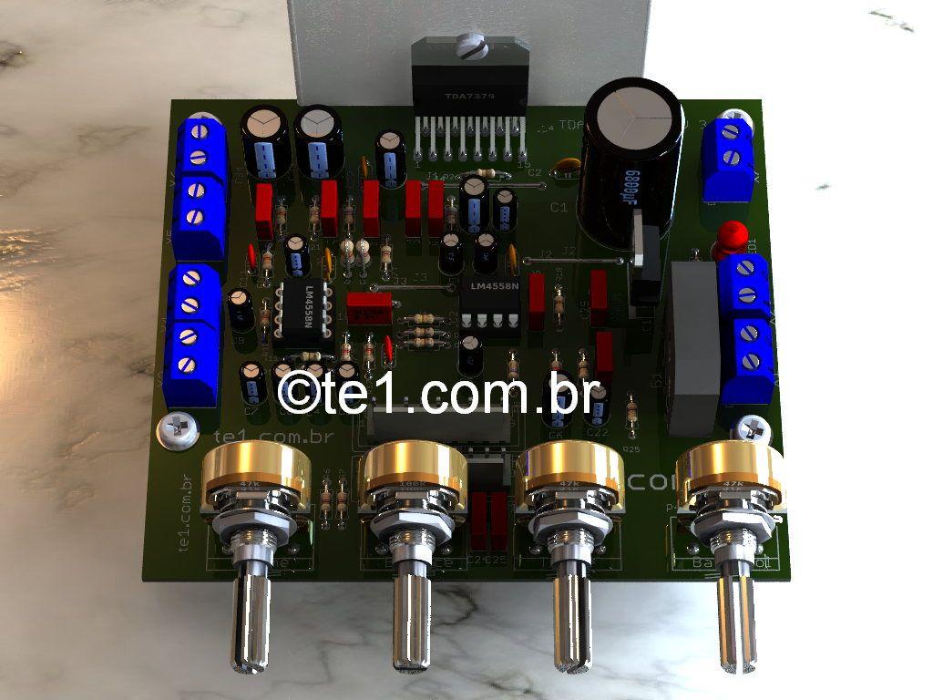 Amplificador Potencia Sta540 21 Subwoofer Tda7377 Sub 150w 8ohm Amplifier Circuit Board 35 150hz 2sa1943