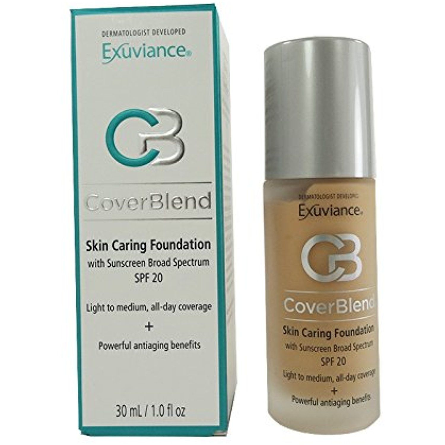 Exuviance Coverblend Skin Caring Foundations Spf 20 True Beige Read More At The Image Link This Is An Affiliate Link Exuviance No Foundation Makeup Spf