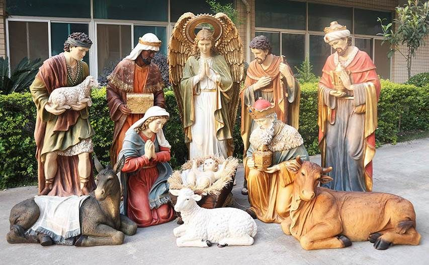 72 Heaven S Majesty 12 Piece Full Nativity Set Life Size Nativity Set Outdoor Nativity Christmas Vignettes