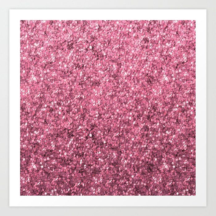 Modern Pink Glitter illustration Art Print by homelovers #AD , #Sponsored, #sponsored, #Glitter, #illustration, #homelovers, #Pink