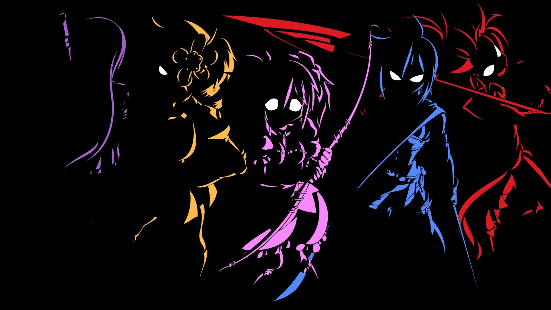 Anime Characters Outline Black Wallpaper Cool anime