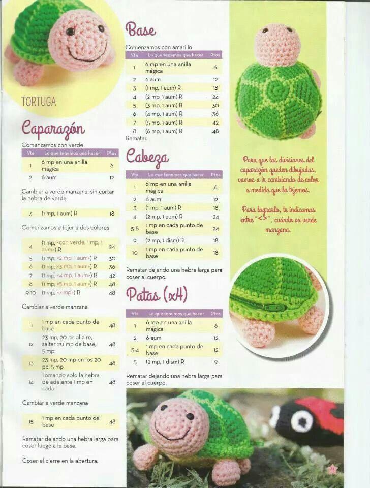 Tortuga | diy y manualidades | Pinterest | Tortuga, Patrones ...