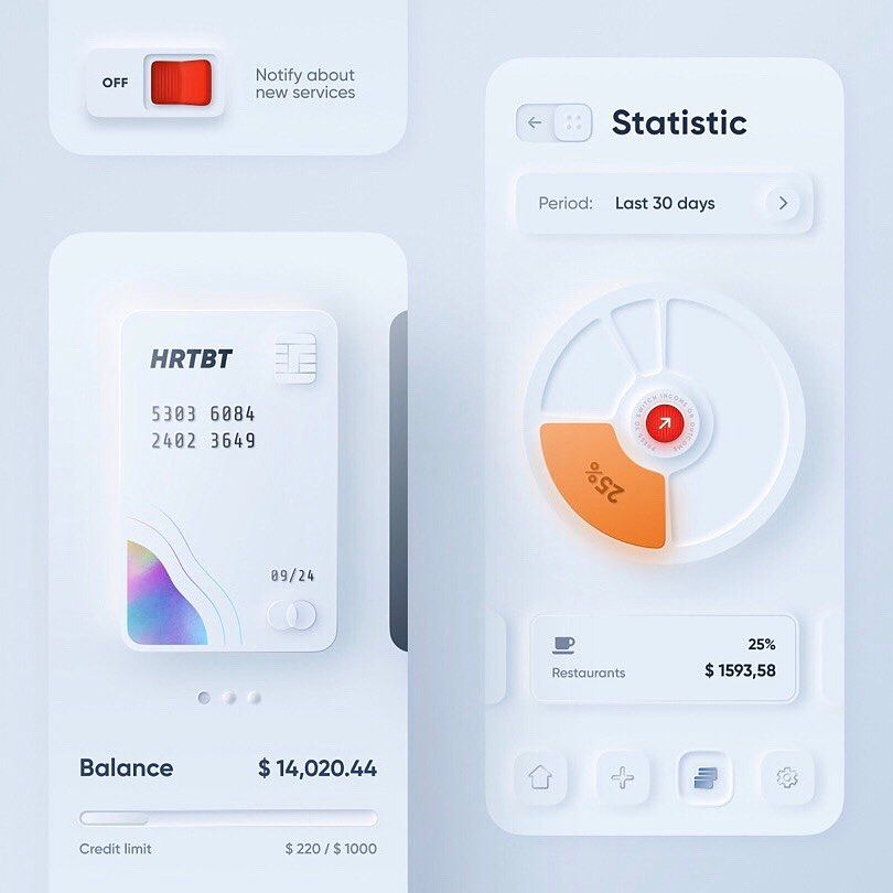 E-Wallet App User Interface Design Concept |