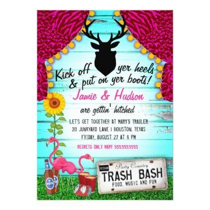 White Trash Bash Card. White Trash Bash Card   Wedding Invitations ...