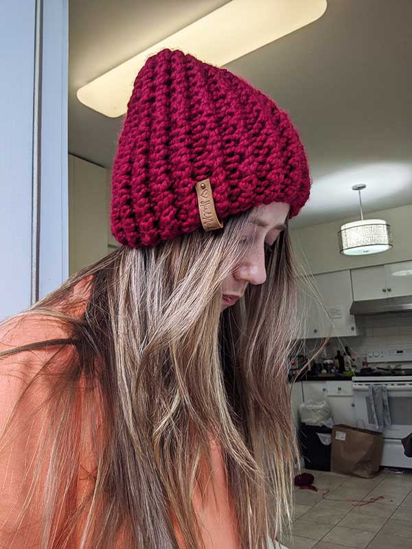 Ribbed Bubble Knit Hat Pattern (Straight Needles) · Crazy ...