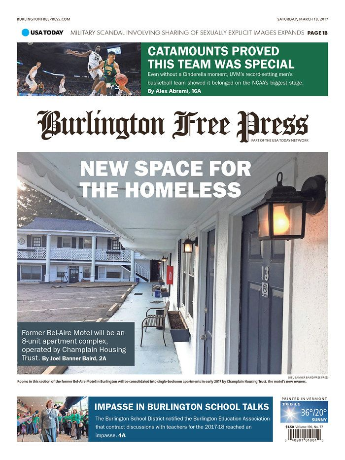 Today S Burlington Free Press Bfp News Www Burlingtonfreepress Com Burlington News Space Bel Aire