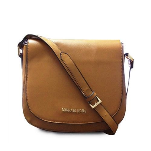 e6e118d1f47d Michael Kors Hayes Messenger Small Brown Crossbody Bags
