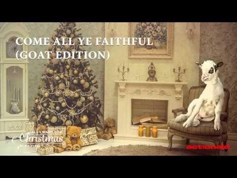 Get festive and let goats sing you Christmas carols all season long!