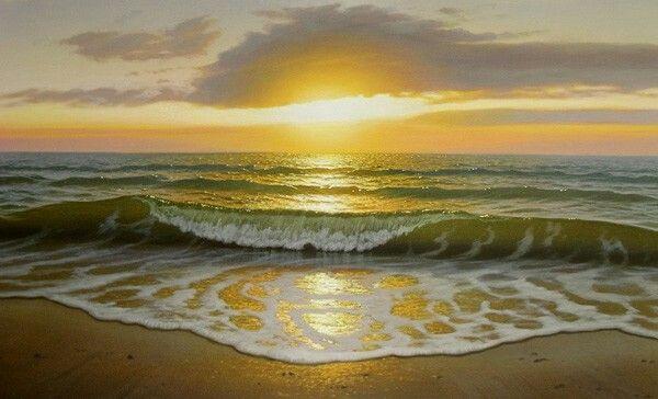 Stefanov Alexander- Wave of Sunset, 2009. Oil on canvas.