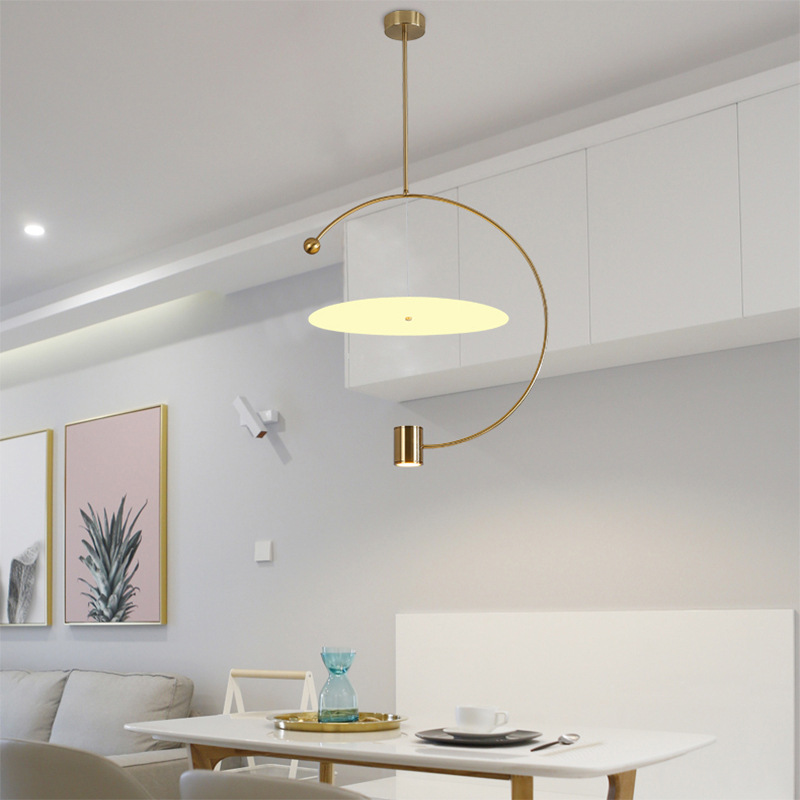 Modern Led Pendant Light Creative Round Shape Lamp Simple Warmth