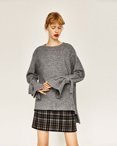 d9bf69f8138383 Image 4 of SWEATER WITH TIE SLEEVES from Zara | Bought it! | Fashion ...