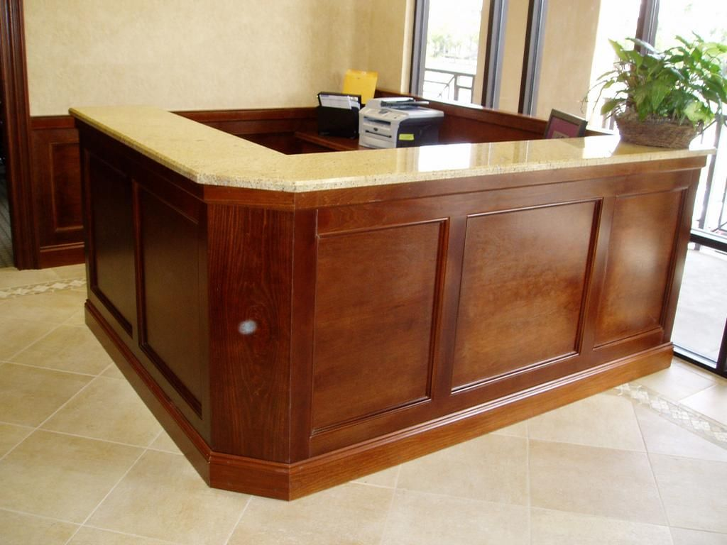 cool custom reception desk furniture | reception desks | Custom built reception desk by Seaborn ...