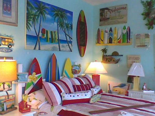 brilliant beach theme bedroom decorating ideas for kids - Beach Bedroom Decorating Ideas