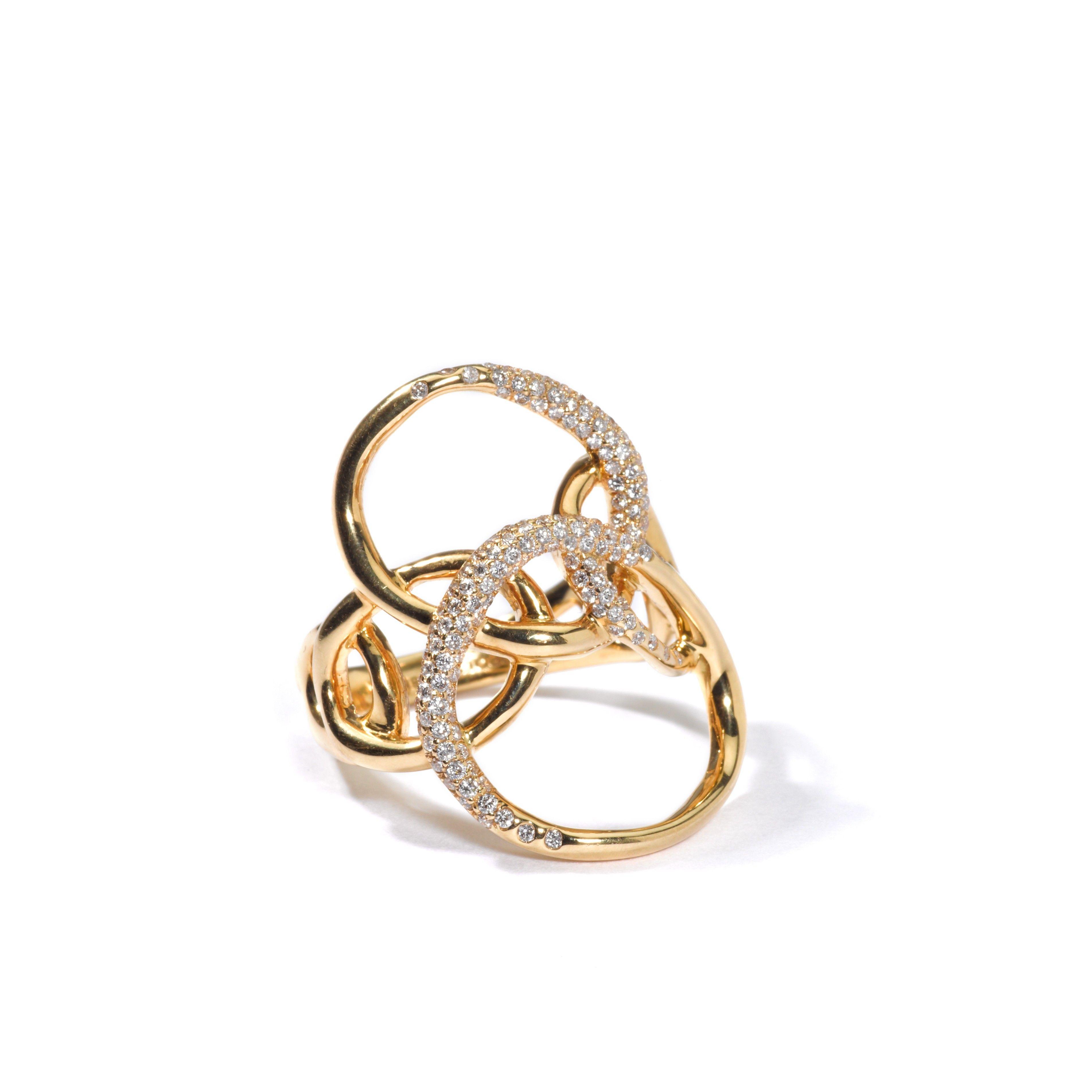 Ippolita 18k Gold Drizzle Ring with Diamonds J6ldzFSwz