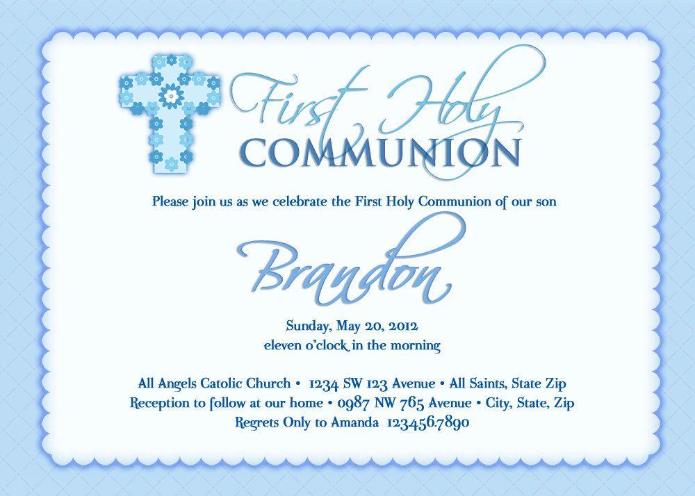 communion invitations cerca con google holy communion invitations christening invitations boys first communion