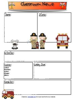 do you need a classroom newsletter for your fire safety or community