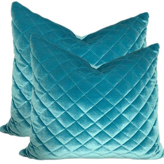 Blue sofa Cushions