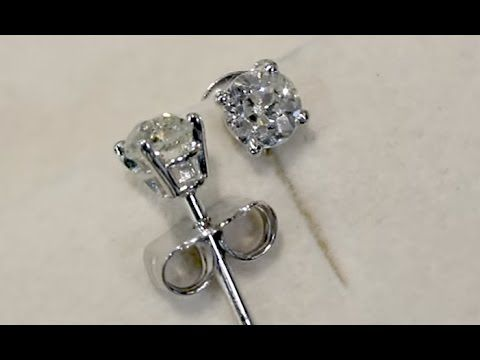 Platinum Diamond Earrings Http Acsilver Co Uk Pc 0 56 Ct And Stud Antique Contemporary 35p9237 Htm
