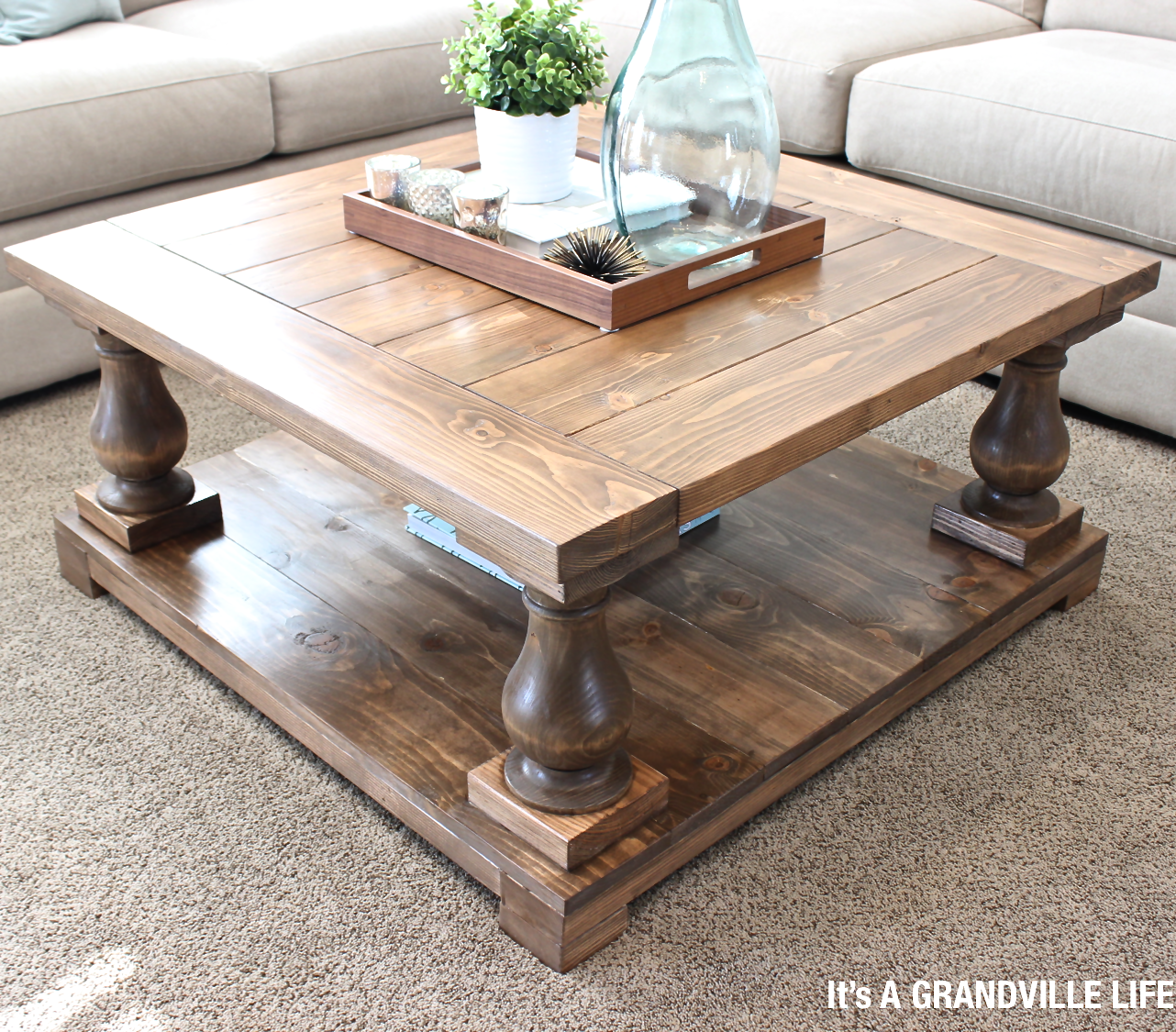 DIY Balustrade Coffee Table