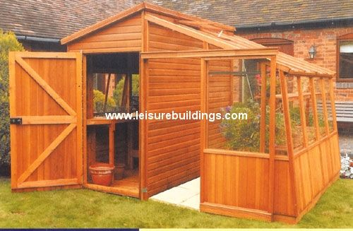 malvern greenhouse retreat shed greenhouse combination in cedar - Garden Sheds With Greenhouse