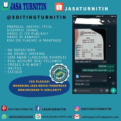 Jasa Cek Dan Revisi Turnitin Online Murah Mudah Cepat Di Kalimantan Timur Tesi Will Detect Paraphrasing