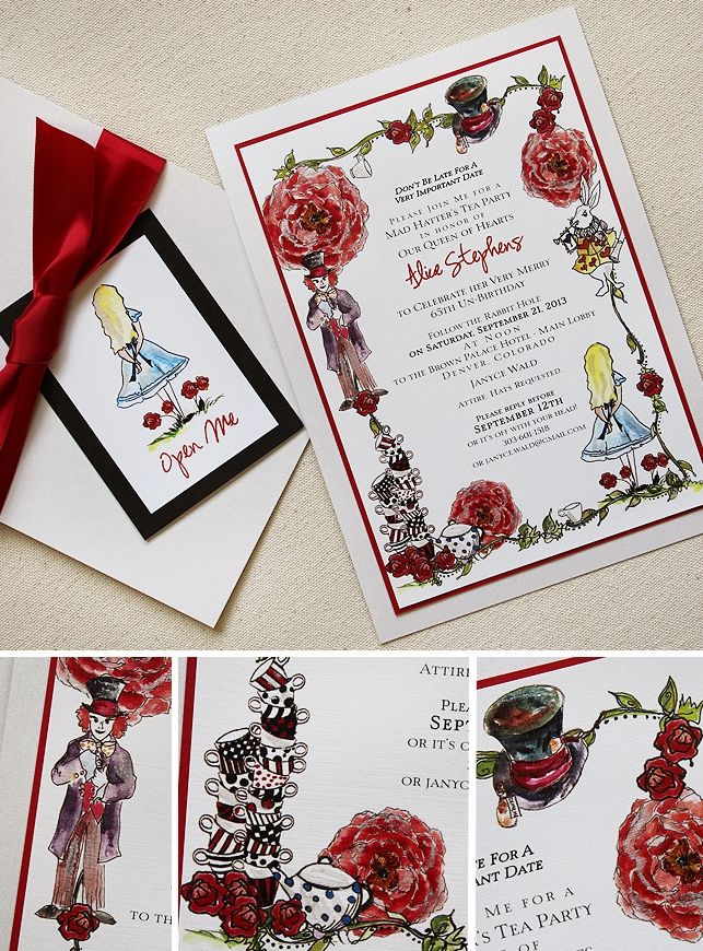 mad hatter teparty invitations pinterest%0A mad hatter alice in wonderland tea party invitation inspiration