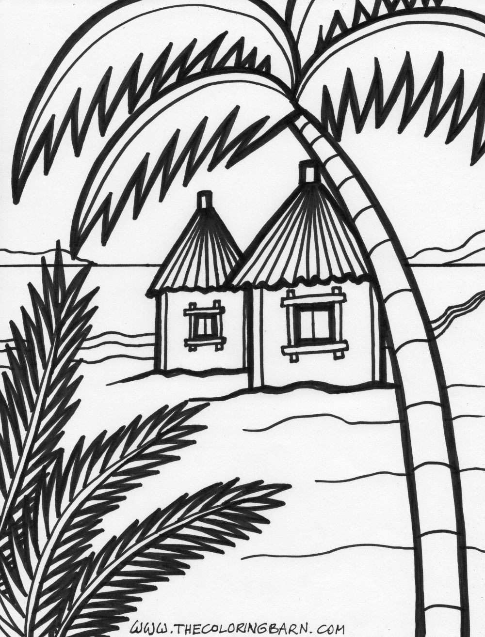 island-coloring-6.jpg 1,000×1,315 pixels | Summer Coloring pages ...