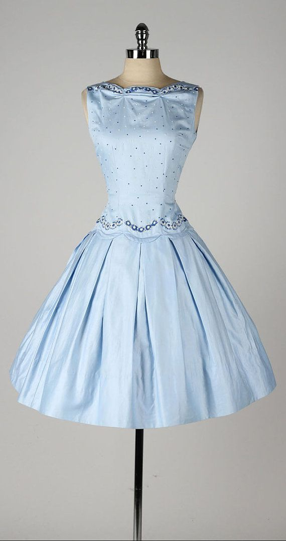 Vintage 1950s Dress Teena Paige Dead By