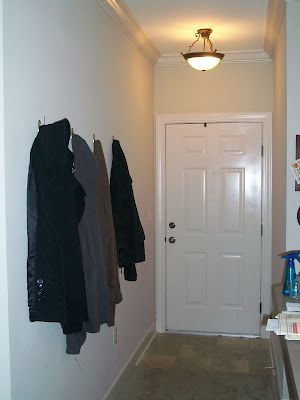 Command Hooks As Coat Rack Diy Coat Rack Entry Closet