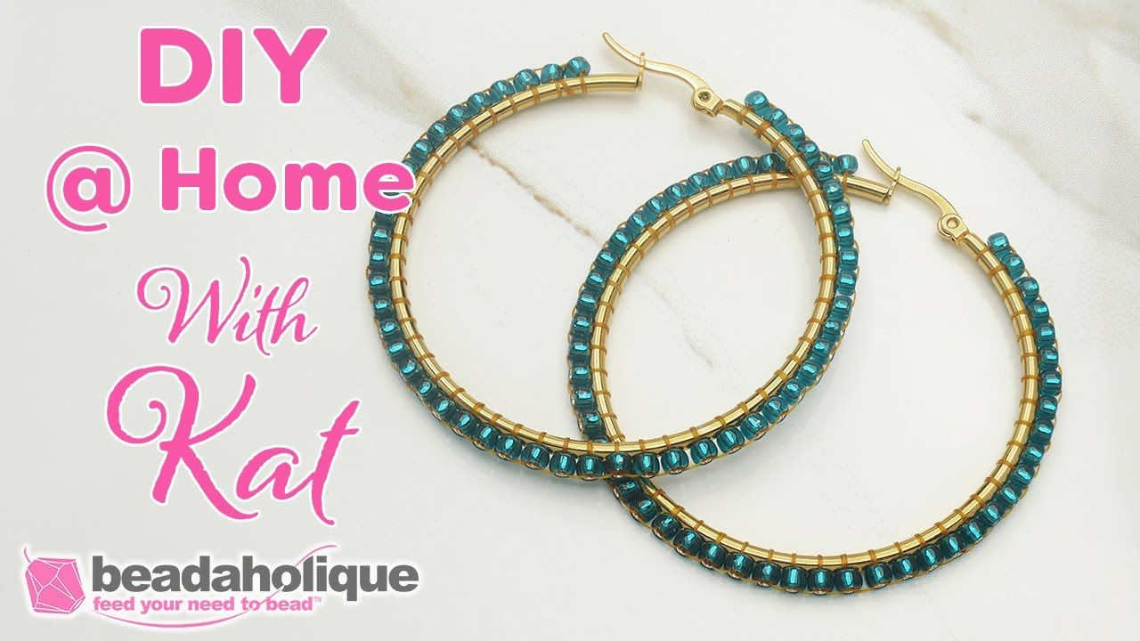 How to do circular brick stitch on a hoop earring