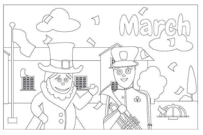 march coloring pages free printable  coloring pages fun