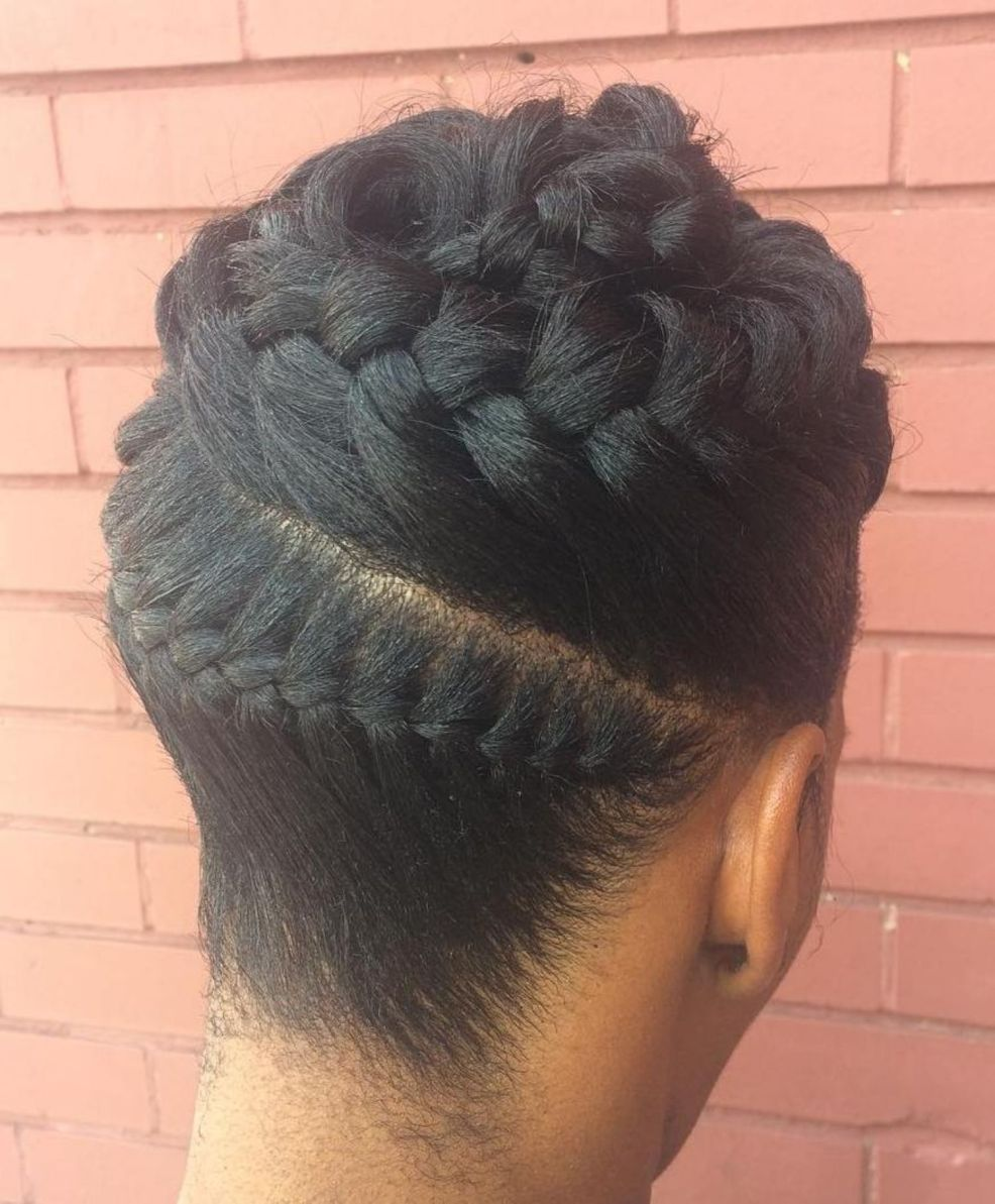 braided updo hairstyles for black hair 2020