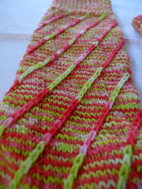 Photo of This is how I knit: crossed lifting stitches