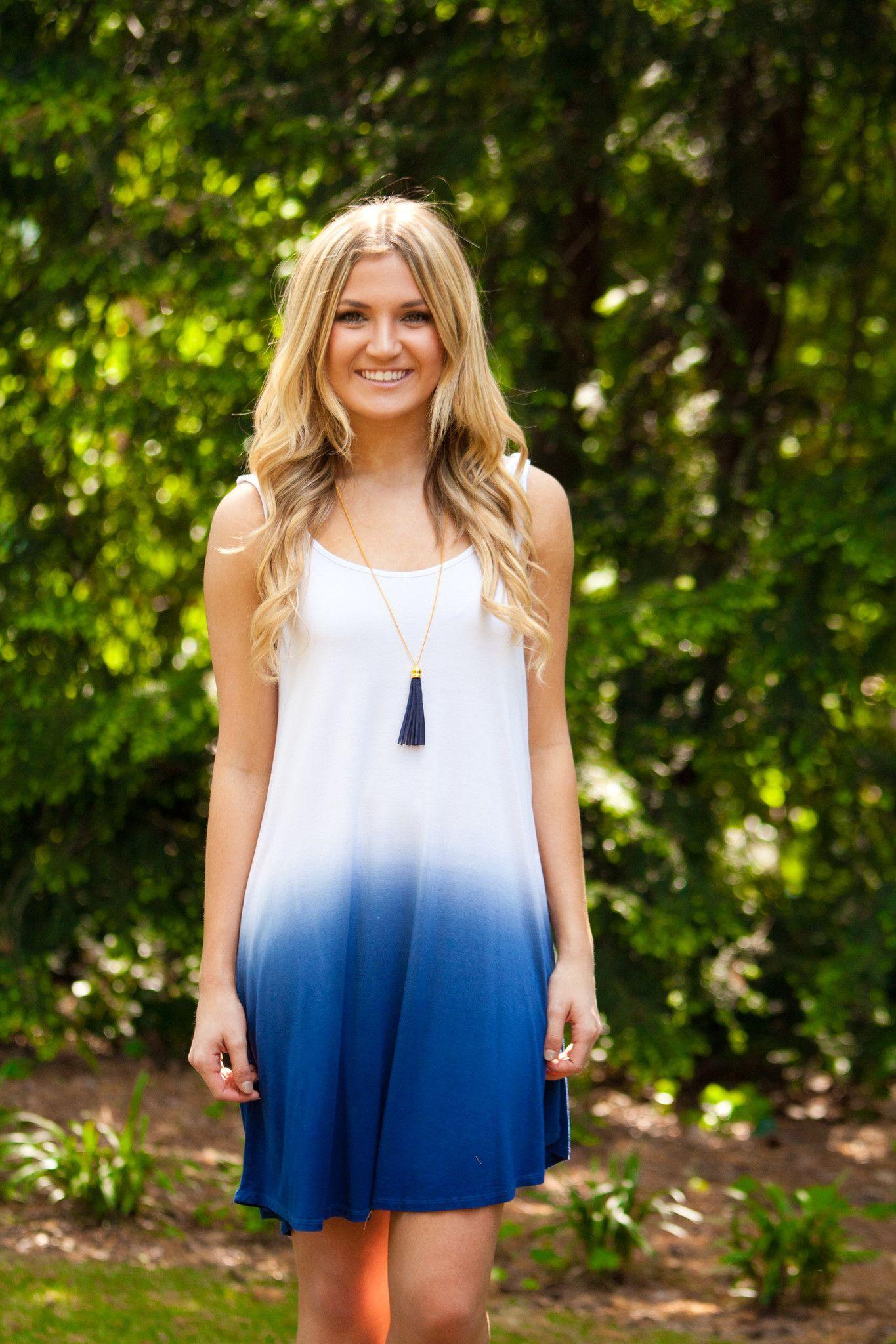 Take a dipdye dressblue products pinterest dip dye dresses