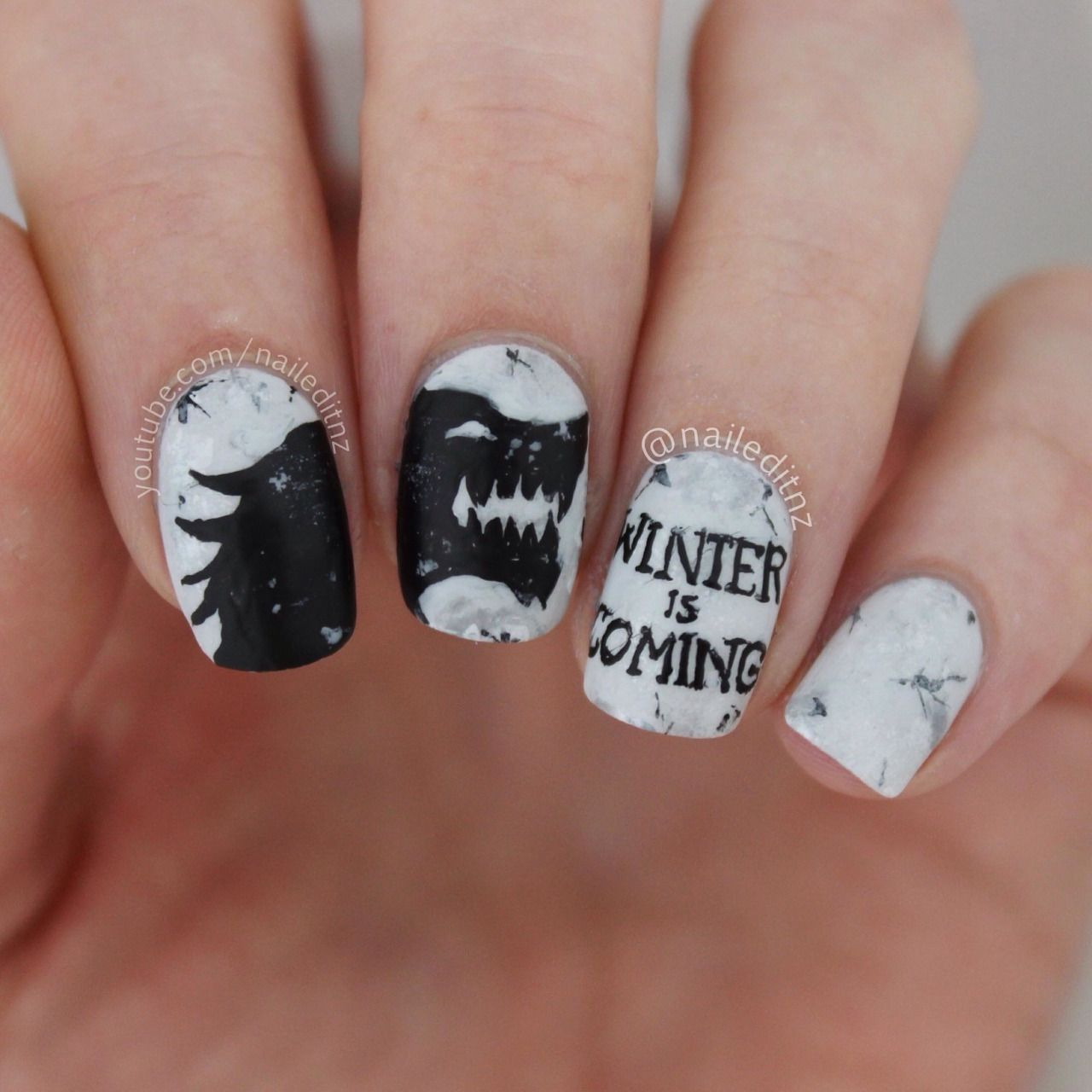 Game of thrones nail art! Watch here: https://youtu.be/tOBfSauPIcw ...