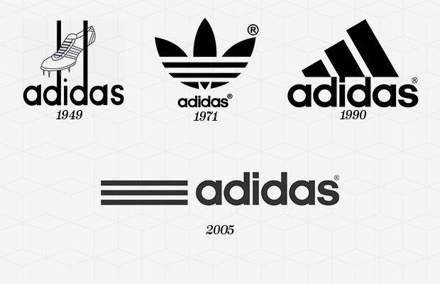 le 50 più iconico loghi di marca adidas