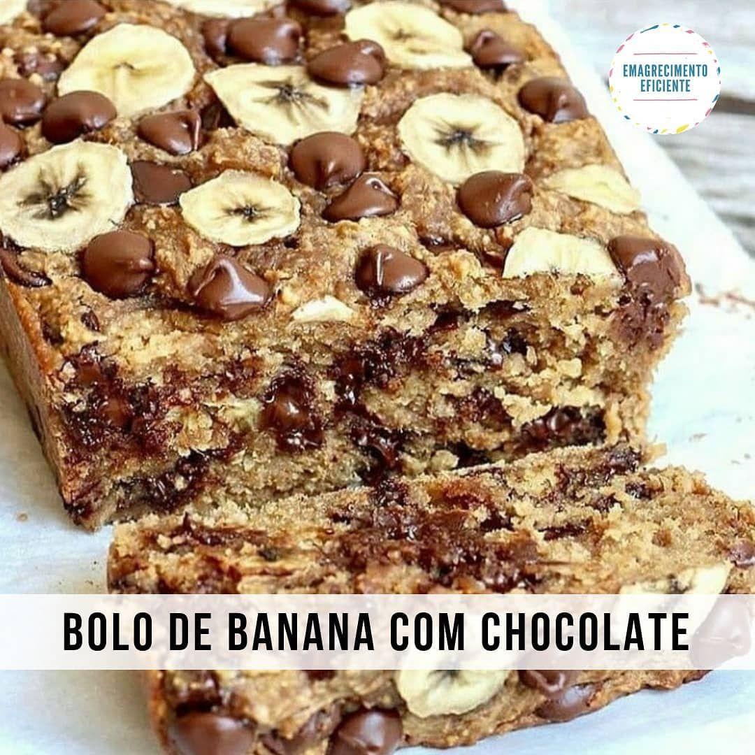 Bolo De Banana E Chocolate Fit Receita Sobremesas Veganas Receitas Receita De Pao De Banana