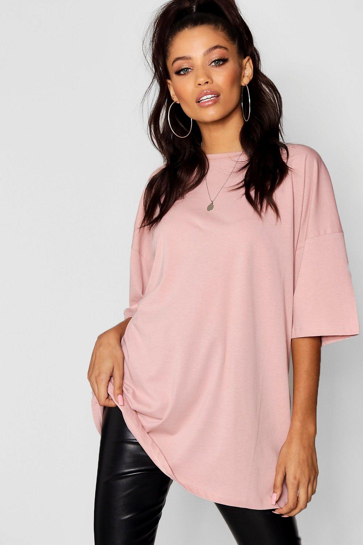 Basic Washed Oversized T-Shirt | boohoo in 2021 | Oversized tshirt ...
