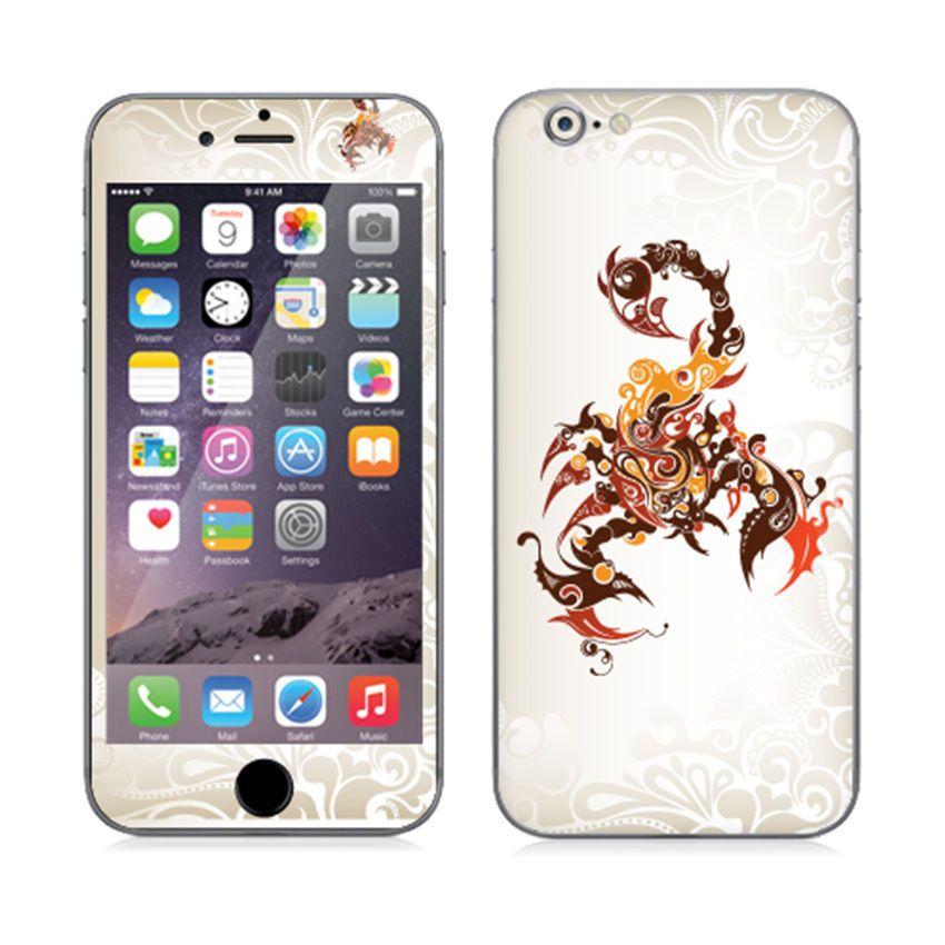 Premium elaborated skin decal stickers for iphone 6 plus iphones tatoo scorpion popskinkorea
