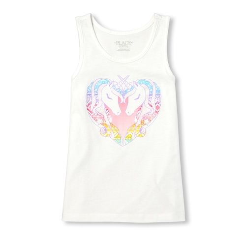 dffb20cc9121d Girls Matchables Glitter Graphic Tank Top