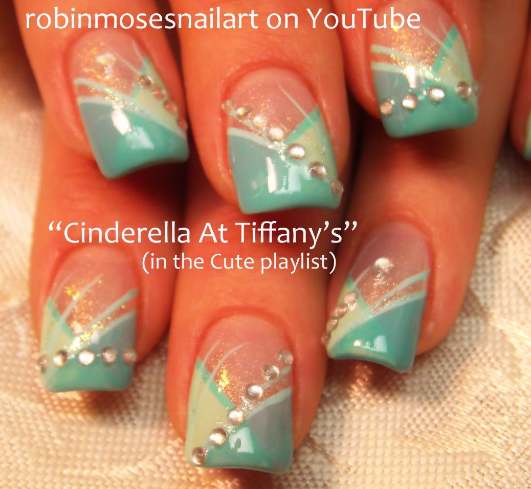 Nailart by robin moses tiffany blue prom nail nails