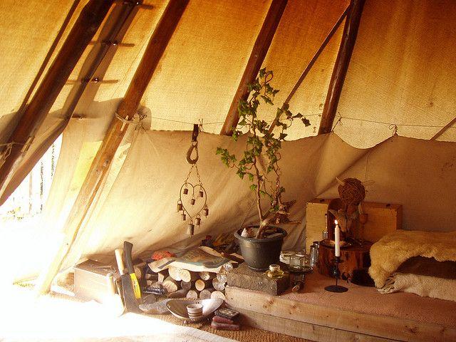 Tipi Interior Tee Pee Home Pinterest Interiors