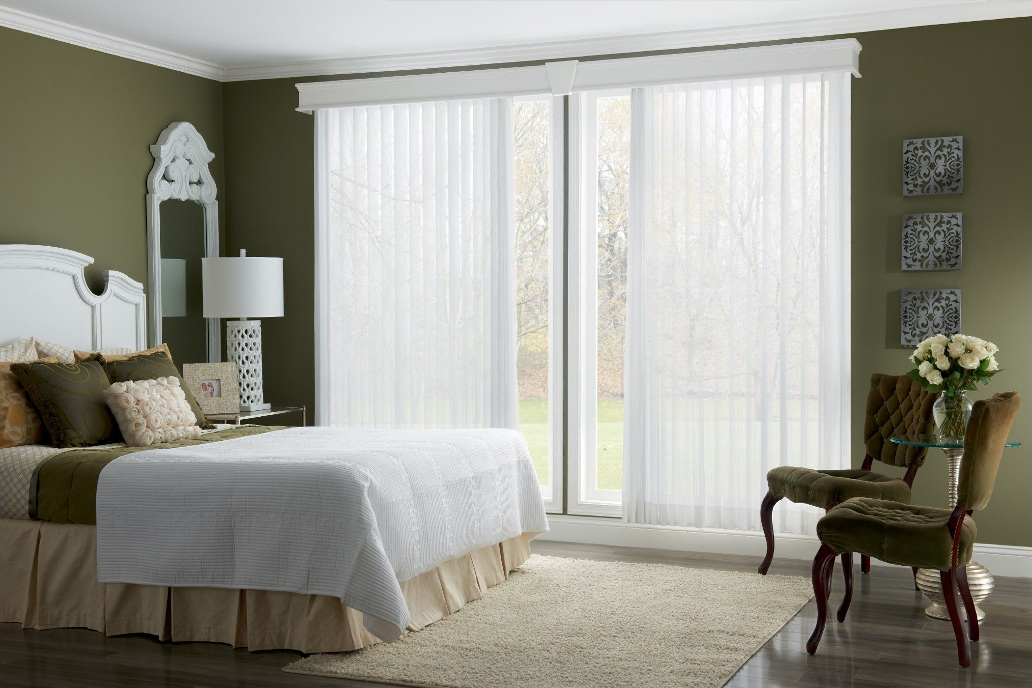 Vertical blinds enhance sliding doors and larger windows into stylish - Interior White Vertical Blinds With Cornice For Patio Sliding Glass Doors Blinds For Patio Doors